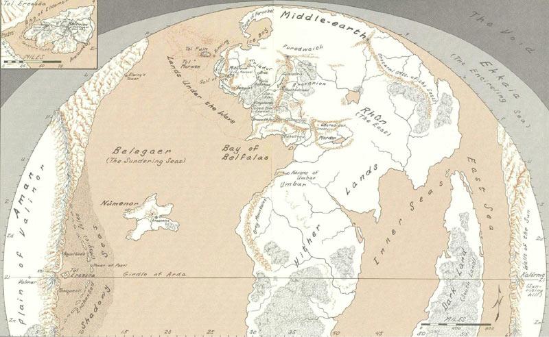 Cartes de la terre du milieu for Miroir de galadriel