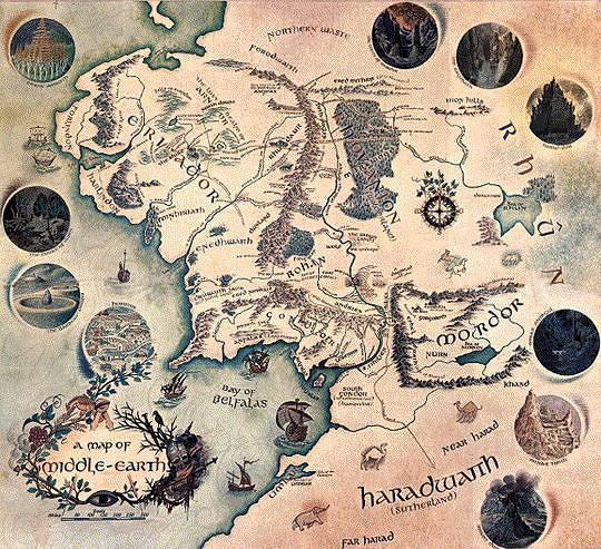 Carte Terre Du Milieu Hd.Les Cartes De La Terre Du Milieu